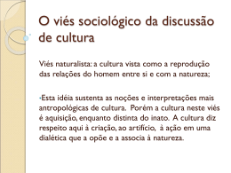 Aula do dia 27 de setembro - significado sociológico de cultura