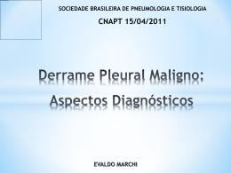 Derrame Pleural Maligno: Aspectos Diagnósticos