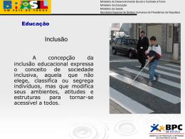 educação especial - Secretaria de Desenvolvimento Social