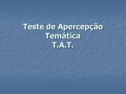 Teste de Apercepção Temática_aula 1