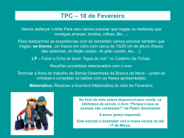 TPC – 18 de Fevereiro - Blogue da turma 8 – Fonte Joana