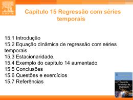 CAP. 15 - Estatística Industrial - Controle Estatístico de Qualidade