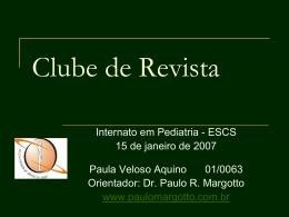 Clube de Revista - Paulo Roberto Margotto