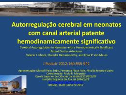 Autoregulação cerebral em neonatos com canal arterial patente