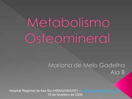 Metabolismo Osteomineral
