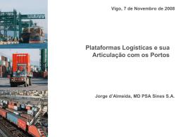 Plataformas Logísticas e sua Articulação com os Portos