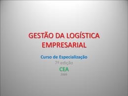 GESTÃO DA LOGÍSTICA EMPRESARIAL - PUC