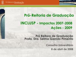 2009 INCLUSP 2007 - 2008