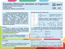 Equações Diferenciais Aplicadas na Engenharia Frederico