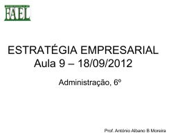 Empreendedorismo - Estratégia Empresarial