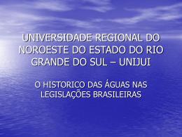 UNIVERSIDADE REGIONAL DO NOROESTE