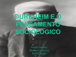 durkheim e o pensamento sociológico