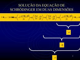 Solução da Equação de Schrödinger Bidimensional
