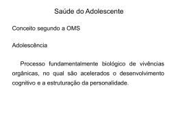 Saúde do Adolescente - Universidade Castelo Branco
