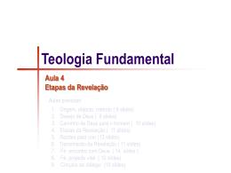 A4 - Teologia Fundamental _Etapas da Revelação