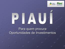 Commércio Exterior - Investir no Piaui - CRI