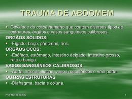 TRAUMA DE ABDOMEM.