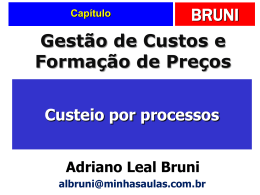 6. Custeio por processos.