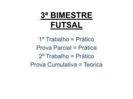 3ª BIMESTRE FUTSAL