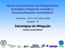 Novos Instrumentos de Planejamento Energético Regional