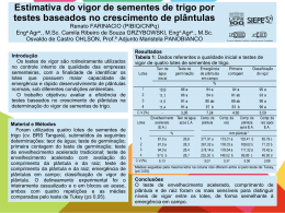 ESTIMATIVA DO VIGOR DE SEMENTES DE TRIGO POR