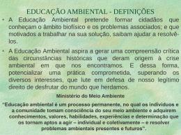 educação ambiental - definições