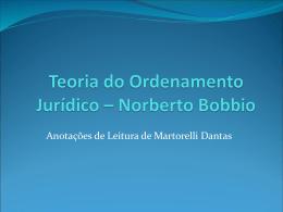 Teoria do Ordenamento Jurídico – Norberto Bobbio