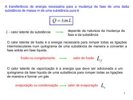 Energia em processos térmicos (2ª parte)