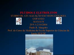 flúidos e eletrólitos - Paulo Roberto Margotto