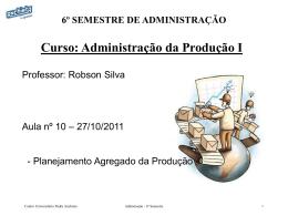 Plano Mestre de Produção (PMP)