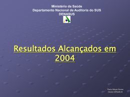 Denasus Reuniao - SNA - Sistema Nacional de Auditoria