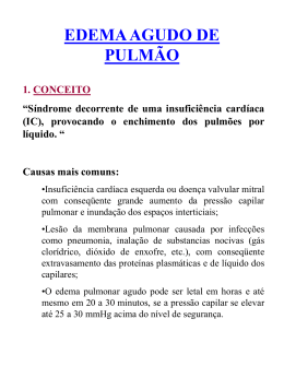 Edema agudo de pulmão - Defesa Civil do Paraná