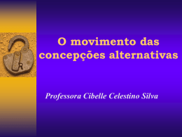 O movimento das concepções alternativas