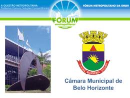 Apresentação - Maurício Leite - Câmara Municipal de Belo Horizonte