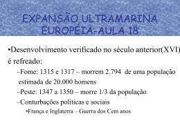 EXPANSÃO ULTRAMARINA EUROPÉIA