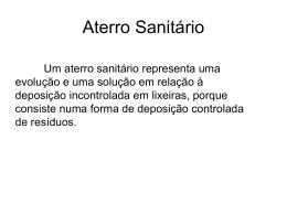 Aterro Sanitário - cienciasnaturaiseva