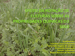 Alterações na fertilidade do solo em sistemasde rotação de culturas