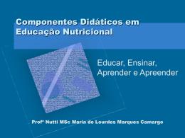 Componentes Didáticos em Educação Nutricional