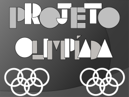 olimpíada brasileira de astronomia - Projeto Olimpíada