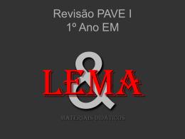 Revisão PAVE I – 2010 1º Ano EM