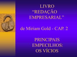 redação empresarial – mirian gold