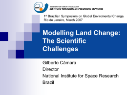 Modelling Land Change: The Scientific Challenges - DPI