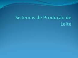 Sistemas de Produção de Leite - Universidade Castelo Branco