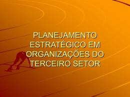 planejamento estratégico em organizações do 3º setor