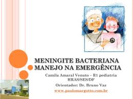 Meningite bacteriana-Manejo na emergência