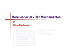 07- Moral especial - Sétimo Mandamento