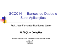 PL/SQL – Coleções