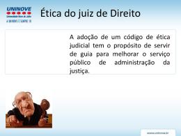 Ética do juiz de Direito - Professora Patricia Martinez