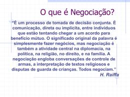 Negociação e