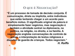 Coordenação e Negociação